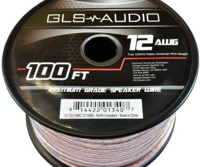12 gauge electrical wire by the foot GLS Audio Premium 12 Gauge, Feet Speaker Wire, True 12AWG Speaker Cable 100ft Clear Jacket 12 Gauge Electrical Wire By, Foot Professional GLS Audio Premium 12 Gauge, Feet Speaker Wire, True 12AWG Speaker Cable 100Ft Clear Jacket Collections