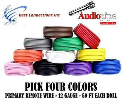 12 gauge electrical wire colors 12 GA GAUGE 50 FT ROLLS PRIMARY AUTO REMOTE POWER GROUND WIRE CABLE (4 COLORS) 17 Nice 12 Gauge Electrical Wire Colors Ideas