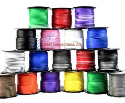 12 Gauge Purple Wire Practical 16 Gauge Primary Remote Wire Solid & Stripe Single Conductor 12 Rolls 100' FT EA Pictures