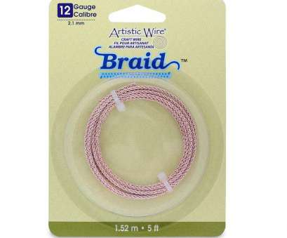 12 Gauge Purple Wire New Amazon.Com: Artistic Wire 12-Gauge Round Braided Jewelry Making Wire, 5-Feet, Rose Gold Images
