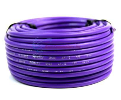 12 Gauge Purple Wire Practical Audiopipe, Feet 12 Gauge Purple Primary Remote Wire, Auto Power Cable LED Pictures