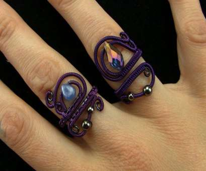 12 Gauge Purple Wire Perfect Tutorial: Mystical Sorceress Wire Wrapped Ring Black/Purple Adjustable, YouTube Photos