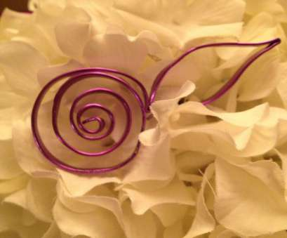 12 Gauge Purple Wire Practical Wire Rose With A Leaf Poke Into A Floral Arrangement OR, In A, Vase As A Faux A Flower ( Make A Couple In Different Colors) Will Make A Cool Collections
