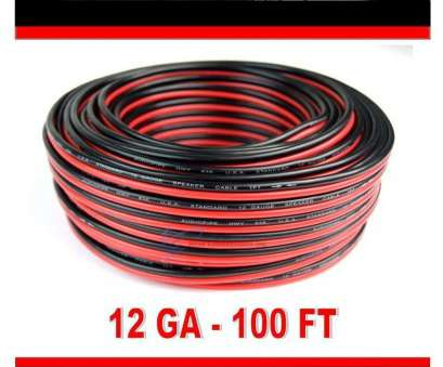 12 gauge red/black wire zip cord Details about 12 Gauge 100' Feet, Black Stranded Speaker Wire 2 Conductor, Cord Cable 12 Creative 12 Gauge Red/Black Wire, Cord Images