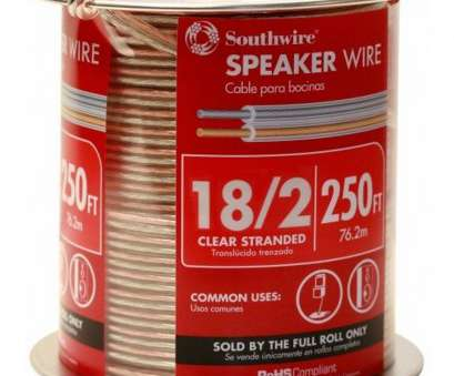 12 gauge speaker wire lowes Southwire 250-ft 18/2 Standard Speaker Wire (By-the-Roll 12 Gauge Speaker Wire Lowes Perfect Southwire 250-Ft 18/2 Standard Speaker Wire (By-The-Roll Pictures