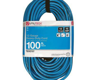 12 gauge wire at lowes Shop Utilitech 100-ft 13-Amp 120-volts Blue 14/3 SJTW Cold weather 12 Gauge Wire At Lowes Perfect Shop Utilitech 100-Ft 13-Amp 120-Volts Blue 14/3 SJTW Cold Weather Collections