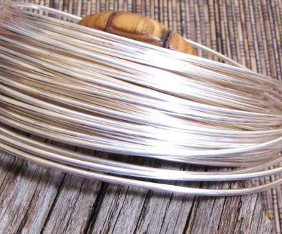 12 gauge wire bangle Round wire, sterling filled, 12 gauge wire, 5 ft length, sterling bonded 12 Gauge Wire Bangle Professional Round Wire, Sterling Filled, 12 Gauge Wire, 5 Ft Length, Sterling Bonded Images