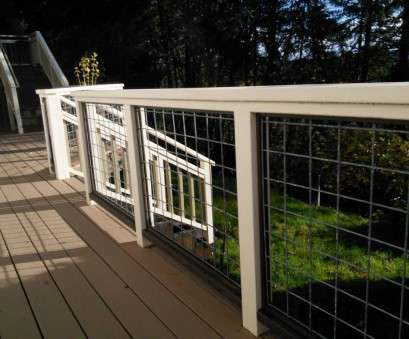 12 gauge hog wire Deck Railing With Hogwire Panels, Deck, Pinterest, Deck 12 Gauge, Wire Cleaver Deck Railing With Hogwire Panels, Deck, Pinterest, Deck Collections