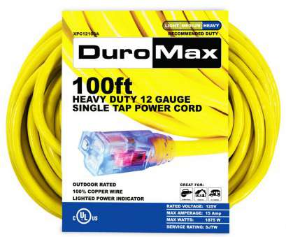 12 gauge wire tap Duromax XPC12100A, ft. 12/3 Gauge Single, Extension Power Cord 16 Practical 12 Gauge Wire Tap Pictures