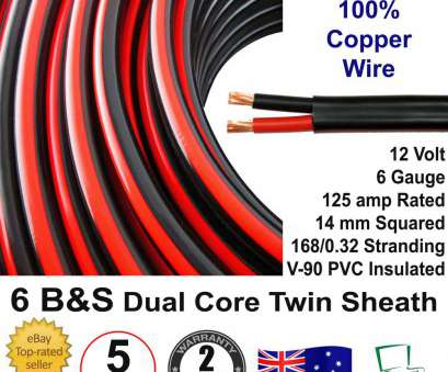 12 Volt 6 Gauge Wire Creative New 5M 6B&S DUAL BATTERY CABLE, S Twin 2 Core Auto Metre, 6BS BS Wire 12V, EBay Pictures
