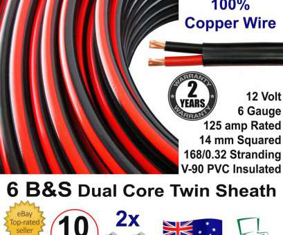 12 Volt 6 Gauge Wire Professional New, 6B&S DUAL BATTERY CABLE, S Twin Core Auto Metre, 6BS BS Wire 12V, EBay Solutions