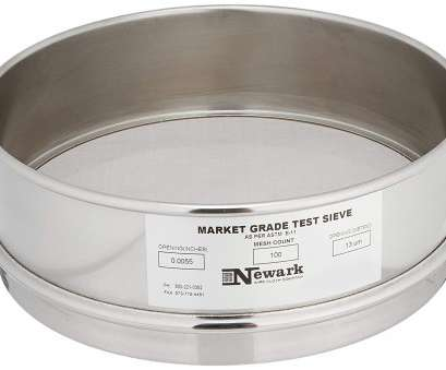 120 mesh stainless steel wire cloth Newark Wire 0310211 Market Grade Test Sieve,, x, Mesh,, Micron Opening, 8