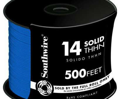 14 gauge blue wire Southwire, ft. 14 Blue Solid CU THHN Wire 13 Top 14 Gauge Blue Wire Galleries