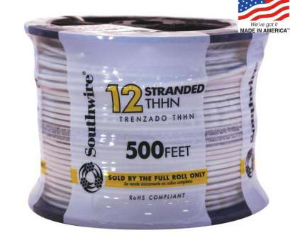 14 gauge ground wire lowes Southwire 500-ft 12-AWG Stranded White Copper THHN Wire (By-the 14 Gauge Ground Wire Lowes Nice Southwire 500-Ft 12-AWG Stranded White Copper THHN Wire (By-The Ideas