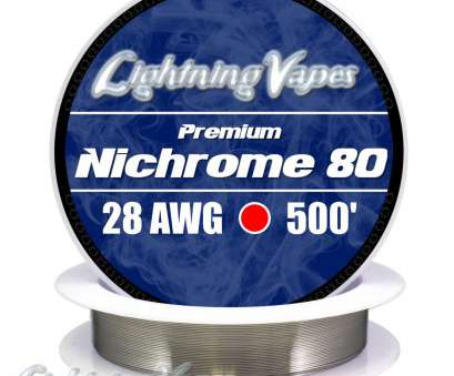 14 gauge nichrome wire Nichrome Series 80 Resistance Wire (Even Gauges), Lightning Vapes 14 Gauge Nichrome Wire Brilliant Nichrome Series 80 Resistance Wire (Even Gauges), Lightning Vapes Collections
