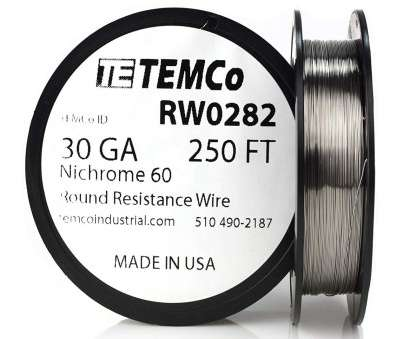 14 gauge nichrome wire TEMCo Nichrome 60 series wire 30 Gauge 50 Ft Resistance, ga, Amazon.com 14 Gauge Nichrome Wire Practical TEMCo Nichrome 60 Series Wire 30 Gauge 50 Ft Resistance, Ga, Amazon.Com Collections