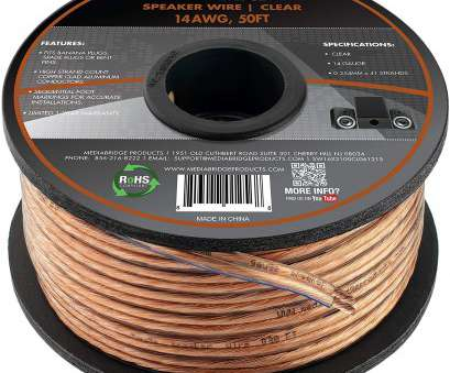 14 gauge speaker wire 50 ft Amazon.com: Mediabridge 14AWG 2-Conductor Speaker Wire, Feet, Clear), Spooled Design with Sequential Foot Markings (SW-14X2-50-CL): Electronics 14 Gauge Speaker Wire 50 Ft Simple Amazon.Com: Mediabridge 14AWG 2-Conductor Speaker Wire, Feet, Clear), Spooled Design With Sequential Foot Markings (SW-14X2-50-CL): Electronics Images