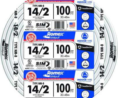 14 gauge thermostat wire 100, 14/2 Solid Romex SIMpull CU NM-B, Wire 14 Gauge Thermostat Wire New 100, 14/2 Solid Romex SIMpull CU NM-B, Wire Images