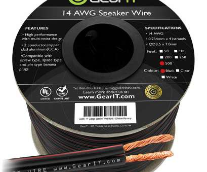 14 gauge twisted wire Amazon.com: 14AWG Speaker Wire, GearIT, Series 14, Gauge Speaker Wire Cable (500 Feet / 152.4 Meters) Great, for Home Theater Speakers, Car 14 Gauge Twisted Wire Top Amazon.Com: 14AWG Speaker Wire, GearIT, Series 14, Gauge Speaker Wire Cable (500 Feet / 152.4 Meters) Great, For Home Theater Speakers, Car Galleries