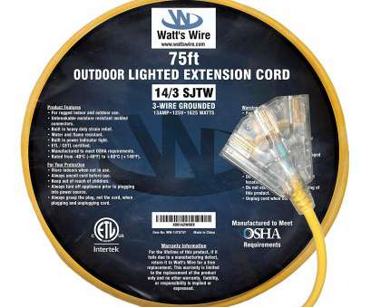 14 gauge wire 15 amp 75 ft 14 Gauge Heavy Duty Indoor Outdoor SJTW Lighted Triple Outlet Extension Cord by Watts Wire, Yellow 75 foot 14, Copper Lighted Multi Outlet 14 Gauge Wire 15 Amp Popular 75 Ft 14 Gauge Heavy Duty Indoor Outdoor SJTW Lighted Triple Outlet Extension Cord By Watts Wire, Yellow 75 Foot 14, Copper Lighted Multi Outlet Solutions