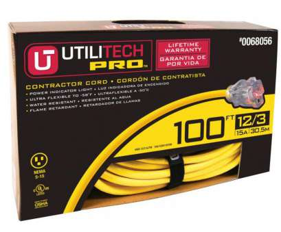 14 gauge wire for 15 amp circuit Utilitech, 100-ft 15-Amp 125-volts Yellow 12/3 SJTW 14 Gauge Wire, 15, Circuit Simple Utilitech, 100-Ft 15-Amp 125-Volts Yellow 12/3 SJTW Collections