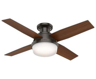 14 Gauge Wire, Ceiling Fan Brilliant Hunter 59445 Dempsey, Profile With Light, Ceiling, Handheld Remote, Small, Noble Bronze, Amazon.Com Photos