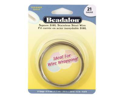 14 gauge wire in square mm Beadalon 316l Stainless Steel Square Wrapping Wire 21 Gauge 14 Gauge Wire In Square Mm Brilliant Beadalon 316L Stainless Steel Square Wrapping Wire 21 Gauge Ideas