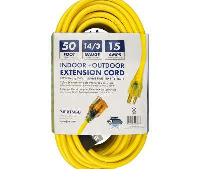 14 gauge wire rated for in amps Amazon.com: Snow, PJEXT50-B Power, 14/3 50-Feet SJTW Outdoor Extension Cord with Lighted End, Yellow: Home Improvement 14 Gauge Wire Rated, In Amps Perfect Amazon.Com: Snow, PJEXT50-B Power, 14/3 50-Feet SJTW Outdoor Extension Cord With Lighted End, Yellow: Home Improvement Pictures