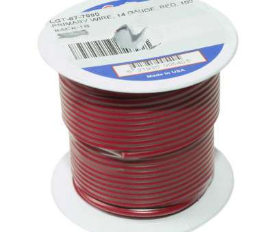14 gauge wire red Primary Wire, 14 Gauge, Red,, Ft Roll 14 Gauge Wire Red Top Primary Wire, 14 Gauge, Red,, Ft Roll Solutions