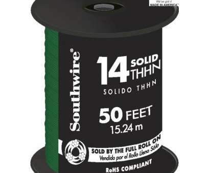 14 gauge wire thhn Shop Southwire 50-ft 14-AWG Solid Green Copper THHN Wire (By-the 14 Gauge Wire Thhn New Shop Southwire 50-Ft 14-AWG Solid Green Copper THHN Wire (By-The Galleries