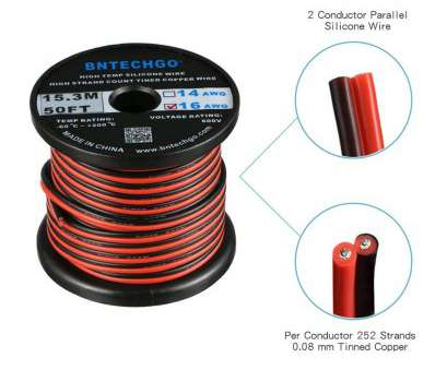 14 gauge wire voltage rating Amazon.com: BNTECHGO 16 Gauge Flexible 2 Conductor Parallel Silicone Wire Spool, Black High Resistant, deg C 600V, Single Color, Strip Extension 14 Gauge Wire Voltage Rating Popular Amazon.Com: BNTECHGO 16 Gauge Flexible 2 Conductor Parallel Silicone Wire Spool, Black High Resistant, Deg C 600V, Single Color, Strip Extension Photos