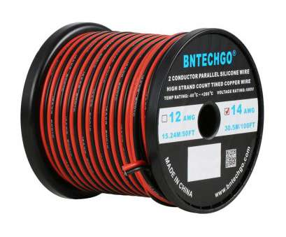14 gauge wire voltage rating BNTECHGO 14 Gauge Flexible 2 Conductor Parallel Silicone Wire Spool, Black High Resistant, deg C 600V, Single Color, Strip Extension Cable Cord 14 Gauge Wire Voltage Rating Best BNTECHGO 14 Gauge Flexible 2 Conductor Parallel Silicone Wire Spool, Black High Resistant, Deg C 600V, Single Color, Strip Extension Cable Cord Galleries