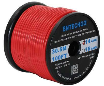 14 gauge wire voltage rating BNTECHGO 14 Gauge Silicone Wire Spool, 100 Feet Ultra Flexible High Temp, deg C 600V 14AWG Silicone Rubber Wire, Strands of Tinned Copper Wire 14 Gauge Wire Voltage Rating Most BNTECHGO 14 Gauge Silicone Wire Spool, 100 Feet Ultra Flexible High Temp, Deg C 600V 14AWG Silicone Rubber Wire, Strands Of Tinned Copper Wire Images