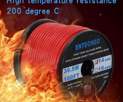 14 gauge wire voltage rating BNTECHGO 14 Gauge Silicone Wire Spool, 100 Feet Ultra Flexible High Temp, deg C 600V 14AWG Silicone Rubber Wire, Strands of Tinned Copper Wire 14 Gauge Wire Voltage Rating Brilliant BNTECHGO 14 Gauge Silicone Wire Spool, 100 Feet Ultra Flexible High Temp, Deg C 600V 14AWG Silicone Rubber Wire, Strands Of Tinned Copper Wire Photos
