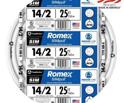 14 gauge wire voltage rating Shop Romex SIMpull 25-ft 14/2 Non-Metallic Wire (By-The-Roll) at 14 Gauge Wire Voltage Rating Practical Shop Romex SIMpull 25-Ft 14/2 Non-Metallic Wire (By-The-Roll) At Galleries