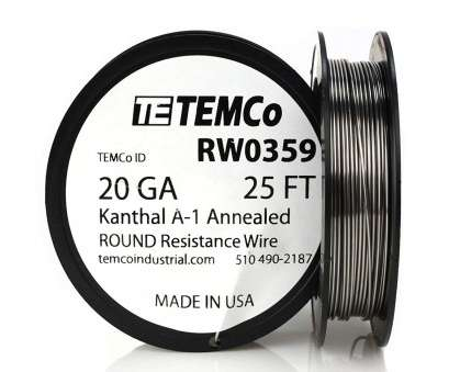 18 gage wire resistance TEMCo Kanthal A1 wire 20 Gauge 25 Ft Resistance, A-1 ga, Amazon.com 18 Gage Wire Resistance Most TEMCo Kanthal A1 Wire 20 Gauge 25 Ft Resistance, A-1 Ga, Amazon.Com Images