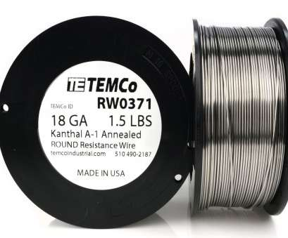 18 gage wire resistance Temco Kanthal Wire 18 Gauge -, LB, FT Series, Resistance AWG 18 Gage Wire Resistance Brilliant Temco Kanthal Wire 18 Gauge -, LB, FT Series, Resistance AWG Solutions