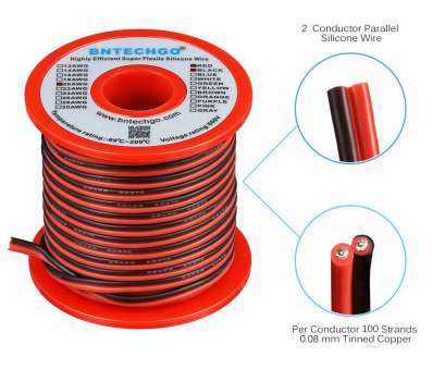 18 gauge 2 wire power cord Get Quotations · BNTECHGO 20 Gauge Flexible 2 Conductor Parallel Silicone Wire Spool, Black High Resistant, deg 18 Gauge 2 Wire Power Cord Perfect Get Quotations · BNTECHGO 20 Gauge Flexible 2 Conductor Parallel Silicone Wire Spool, Black High Resistant, Deg Solutions