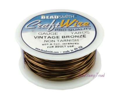 18 gauge beading wire BeadSmith Antique Vintage Bronze Brass Color Copper Craft Wire 18 Gauge, Yds, Bead Smith 18 Gauge Beading Wire Popular BeadSmith Antique Vintage Bronze Brass Color Copper Craft Wire 18 Gauge, Yds, Bead Smith Photos