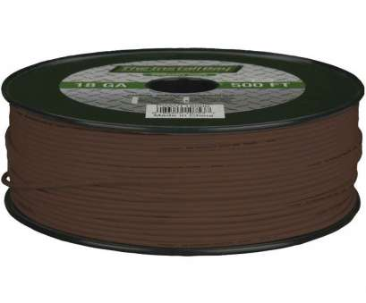 18 gauge brown wire Install, 18-gauge Primary Wire 500ft (brown), Gauges, Products 18 Gauge Brown Wire Creative Install, 18-Gauge Primary Wire 500Ft (Brown), Gauges, Products Solutions