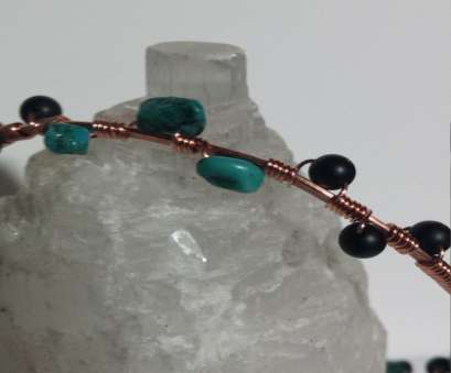 18 gauge double wire Double 18 gauge Hammered Copper Wire Bracelet with Turquoise, Obsidian Bangle Bracelet by WhimzicalGrace on 18 Gauge Double Wire Top Double 18 Gauge Hammered Copper Wire Bracelet With Turquoise, Obsidian Bangle Bracelet By WhimzicalGrace On Collections