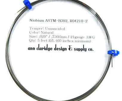 18 gauge niobium wire Amazon.com: Niobium Wire, 21 Gauge, (21ga/.029 inch/.7366mm diameter), 5 Feet, Inches/1.524 Meters minimum) Coil (Natural, Unanodized) Unannealed 18 Gauge Niobium Wire Professional Amazon.Com: Niobium Wire, 21 Gauge, (21Ga/.029 Inch/.7366Mm Diameter), 5 Feet, Inches/1.524 Meters Minimum) Coil (Natural, Unanodized) Unannealed Collections