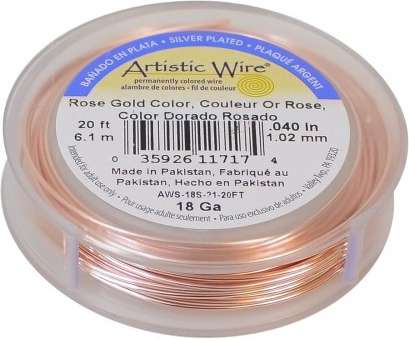 18 gauge rose gold wire Artistic Wire Silver Plated Copper Jewelry Wire, 18ga, 20ft, Rose Gold 18 Gauge Rose Gold Wire Professional Artistic Wire Silver Plated Copper Jewelry Wire, 18Ga, 20Ft, Rose Gold Solutions