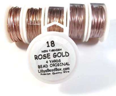 18 gauge rose gold wire Rose Gold Plated Wire, 18 Gauge Wire, Round, Half Hard Wire, Wrapping Stones, Gemstone & Jewelry Supplies 18 Gauge Rose Gold Wire Professional Rose Gold Plated Wire, 18 Gauge Wire, Round, Half Hard Wire, Wrapping Stones, Gemstone & Jewelry Supplies Pictures