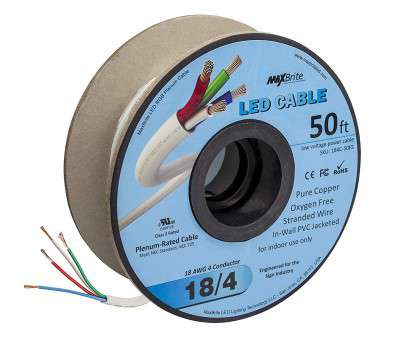 18 gauge low voltage wire 18AWG, Voltage, Cable 4 Conductor In-Wall Jacketed Pure Copper Speaker Wire UL/cUL Class 2 (50ft. Spool), Amazon.com 18 Gauge, Voltage Wire Most 18AWG, Voltage, Cable 4 Conductor In-Wall Jacketed Pure Copper Speaker Wire UL/CUL Class 2 (50Ft. Spool), Amazon.Com Images