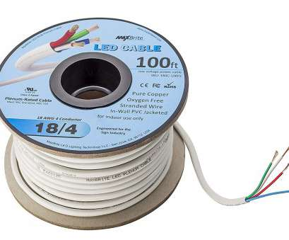 18 gauge low voltage wire 18AWG, Voltage, Cable 4 Conductor In-Wall Jacketed Pure Copper Speaker Wire UL/cUL Class 2 (50ft. Spool), Amazon.com 10 Brilliant 18 Gauge, Voltage Wire Solutions