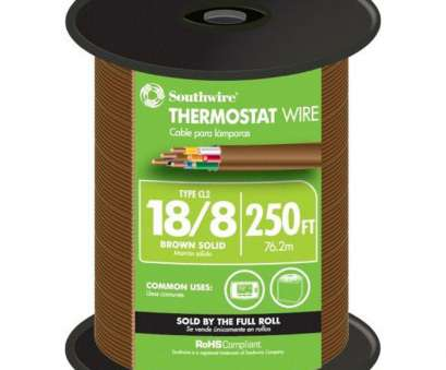18 gauge low voltage wire Southwire (By-the-Foot) 18/8 Brown Solid CU, Thermostat Wire 18 Gauge, Voltage Wire Professional Southwire (By-The-Foot) 18/8 Brown Solid CU, Thermostat Wire Galleries