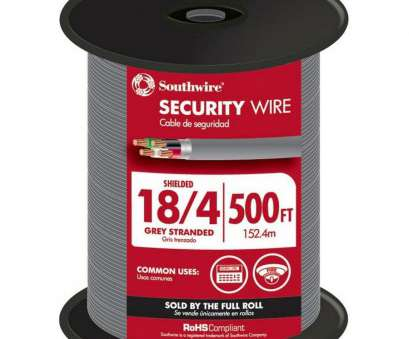 18 gauge wire 4 conductor Shop 500-ft 18/4 Stranded Shielded Grey Security Cable at Lowes.com 18 Gauge Wire 4 Conductor Simple Shop 500-Ft 18/4 Stranded Shielded Grey Security Cable At Lowes.Com Galleries