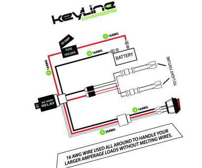 18 Gauge Wire Amps 24V Most LED Light, Wiring Harness, 40, Relay With Heavy Duty 16 GA, Wire For Galleries