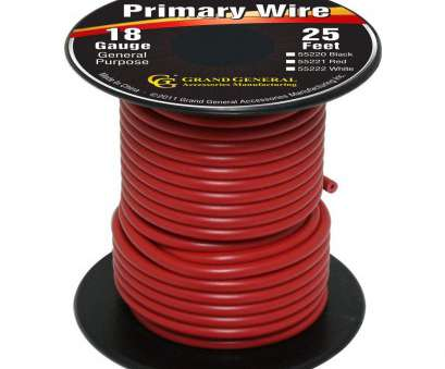 18 gauge wire area Grand General 55221, 18-Gauge Primary Wire 18 Gauge Wire Area Simple Grand General 55221, 18-Gauge Primary Wire Galleries